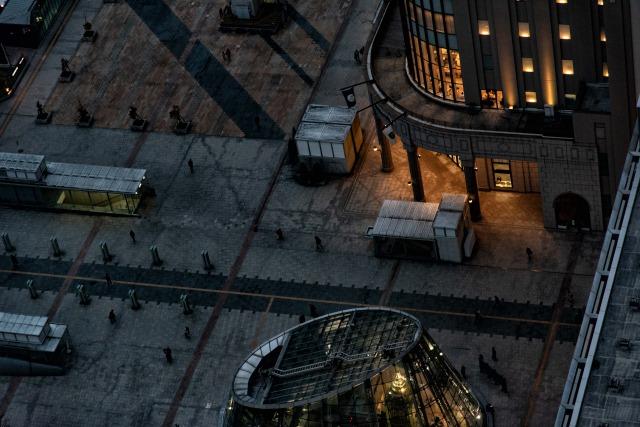 JRタワー展望室T38(タワー・スリーエイト)夕方の絶景ビュー