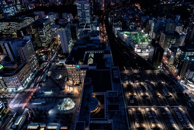 JRタワー展望室T38から撮った札幌の夜景