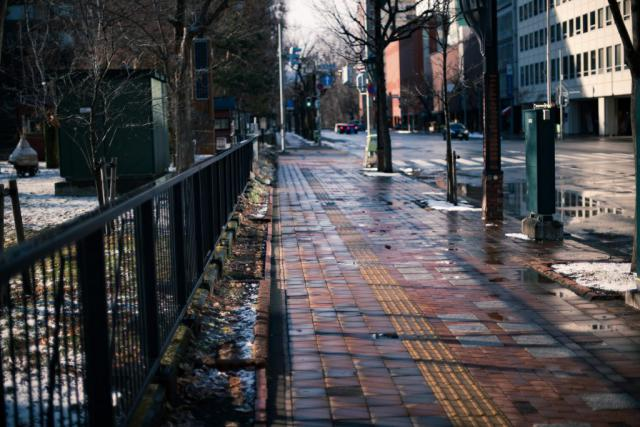 札幌駅周辺の街並みの風景写真