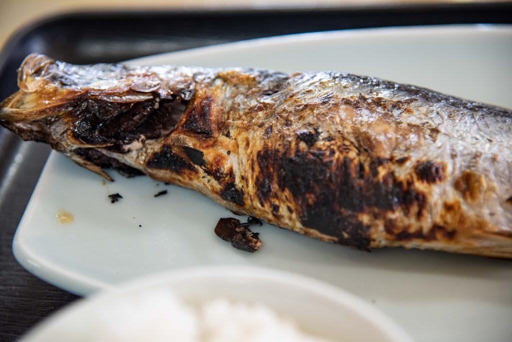 民宿・青塚食堂のにしん焼き定食は最高