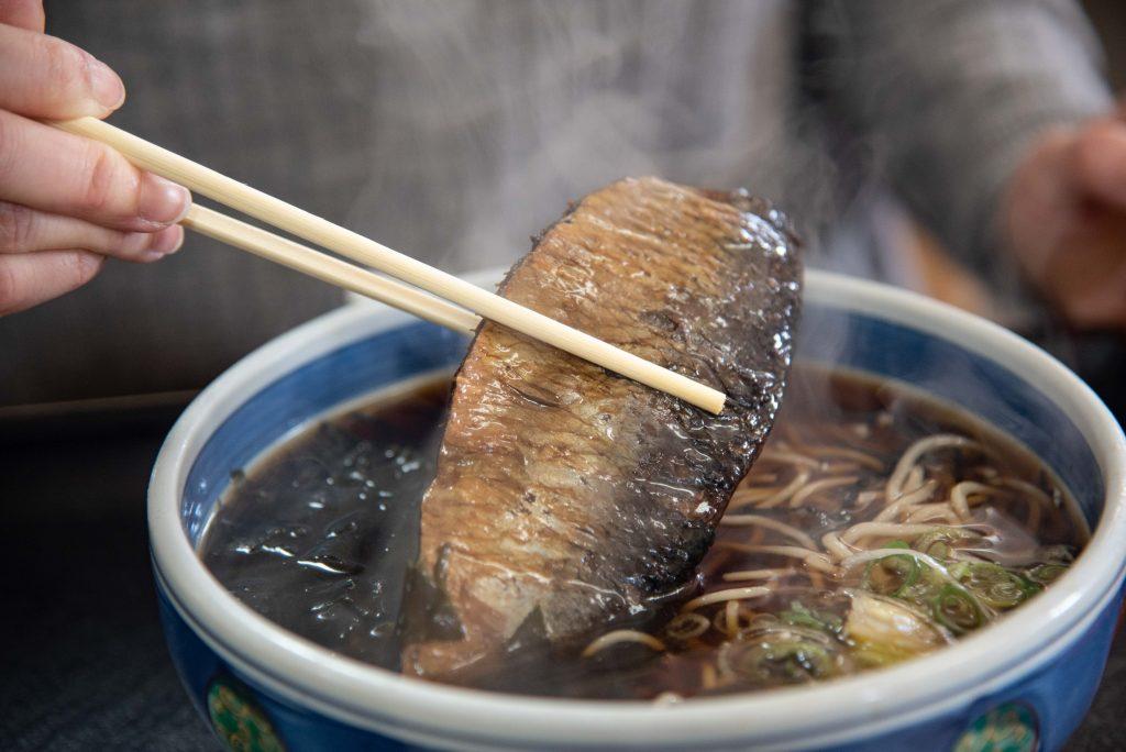 民宿・青塚食堂のにしん蕎麦