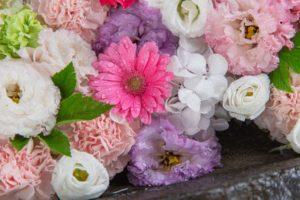 手稲神社の花手水