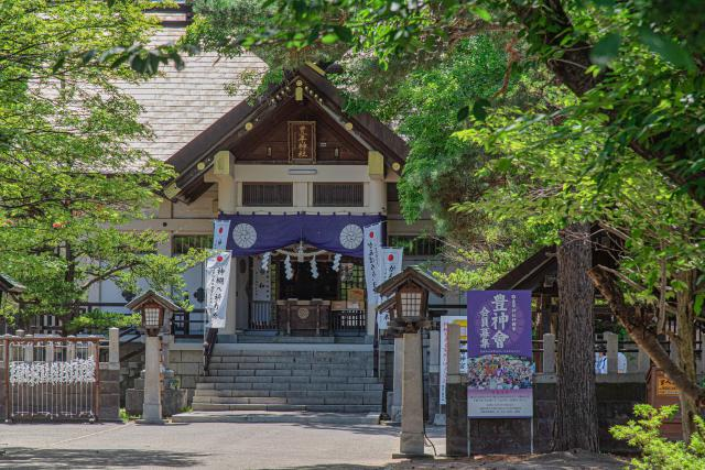 豊平神社の花手水