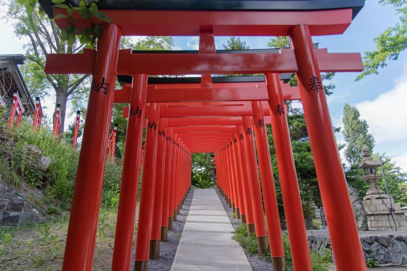 小樽住吉神社の副参道の千本鳥居