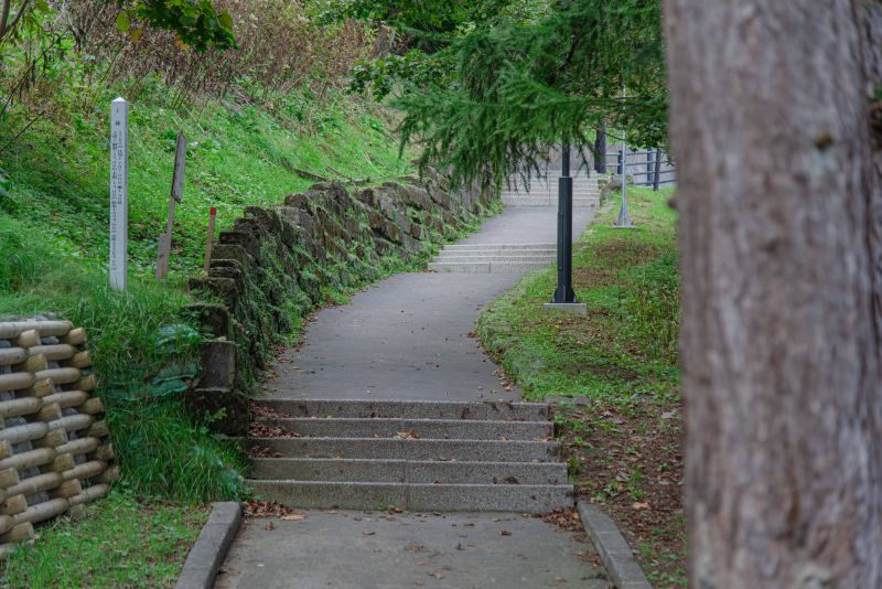 北門神社から稚内公園につづく「短歌の道」