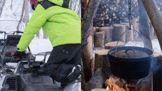 ワンダーランドサッポロでスノーモービルを体験。冬キャンプと一緒にどう?
